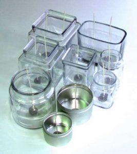 vasos y capsulas de alumínio para velas de té