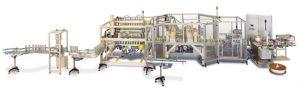 Entformstation HEST-08 mit Fräs-, Bohr- und Bedochtungsmaschine HFBB-04