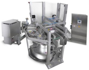 Rotary molding machine for wax crayons with a catalyst