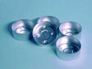 capsulas de alumínio para velas de té
